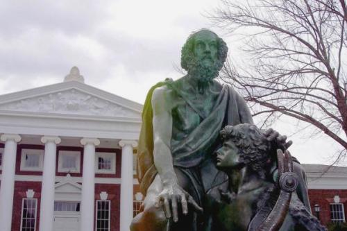 Homer statue on UVA Grounds