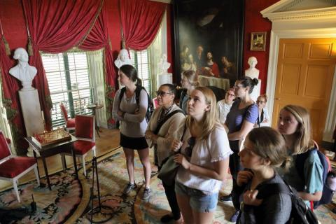 Curry students visit James Madison's Montpelier